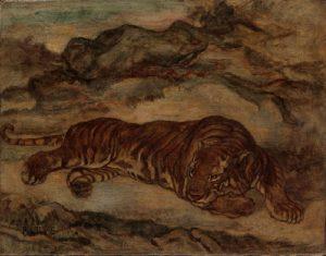 Tiger in a job of Espoon kuvataidekoulu.